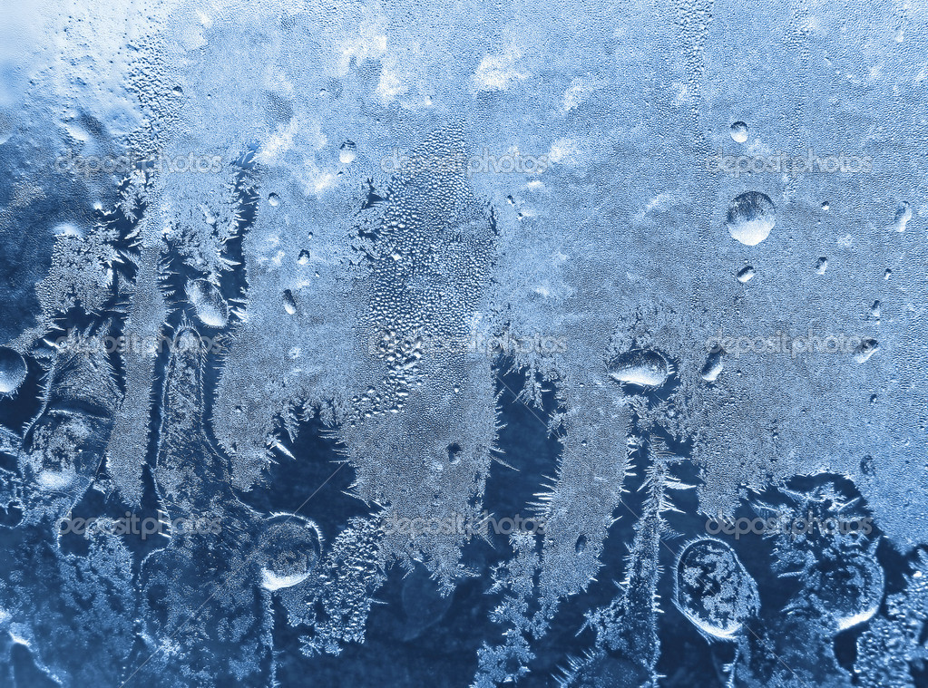 Frost on winter glass
