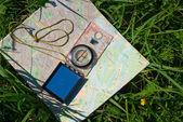 kompas a mapa