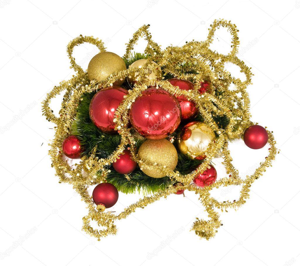 Juguetes de Navidad, Ángeles y la costilla de oro — Fotos de Stock ...
