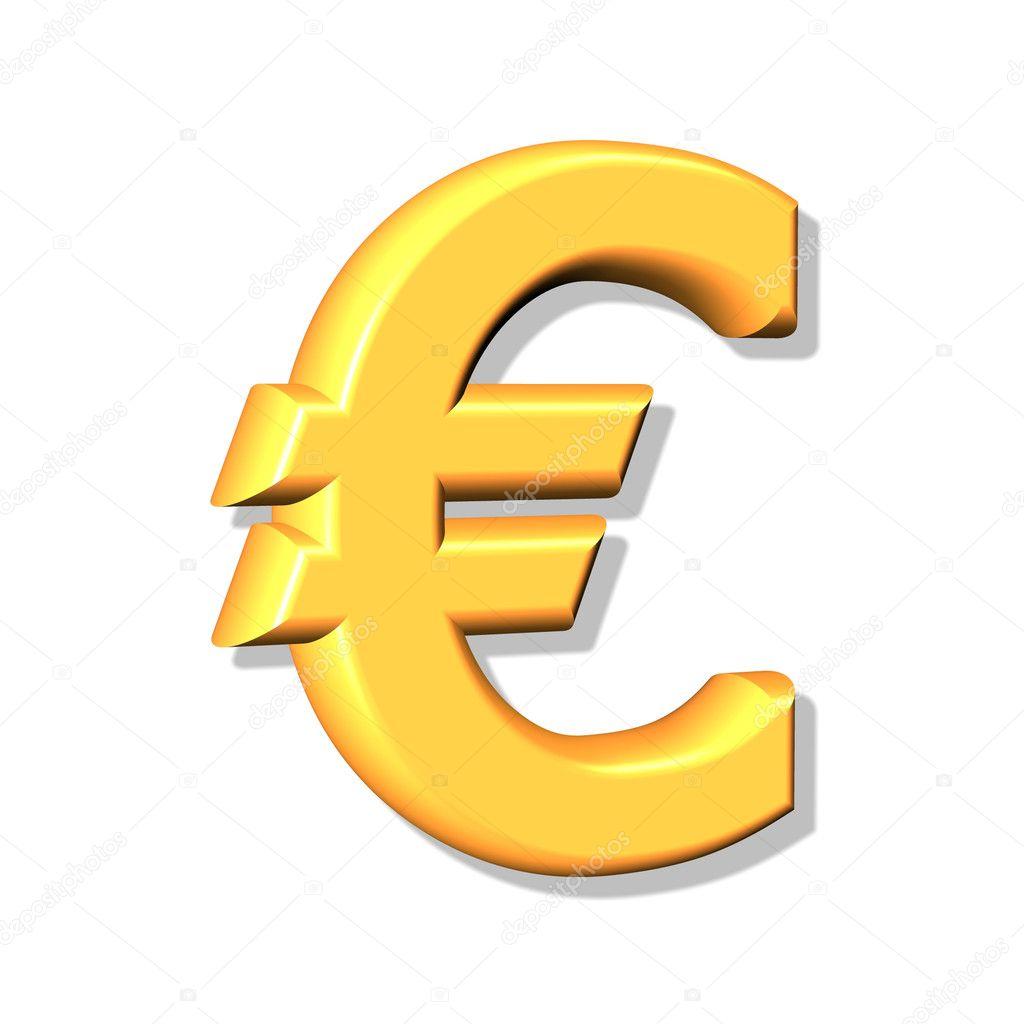 bc6f48dbd 3D złoty znak euro — Zdjęcie stockowe © Baltik #1160320