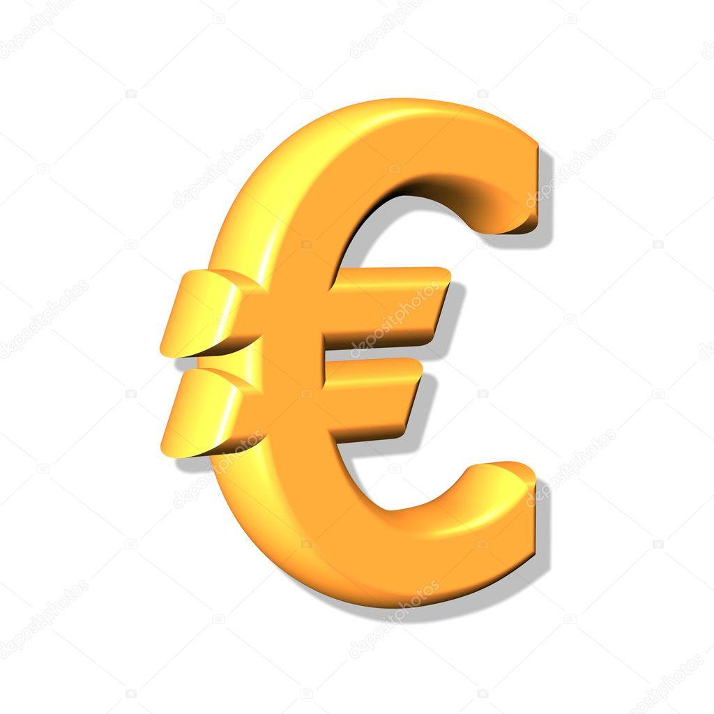 07b8e38d1 3D złoty znak euro — Zdjęcie stockowe © Baltik #1160322