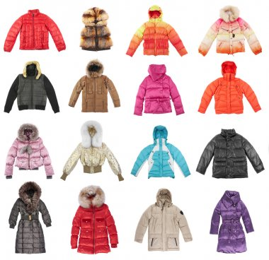Sixteen winter jackets