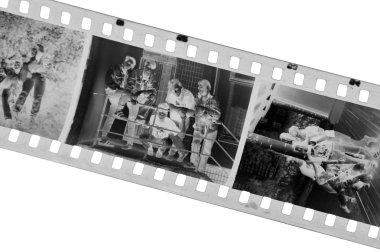 Old black-white photofilm. A negative 35
