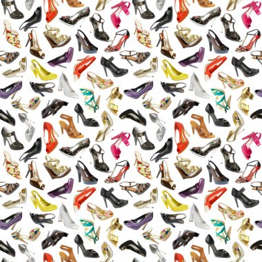 Seamless background from shoes