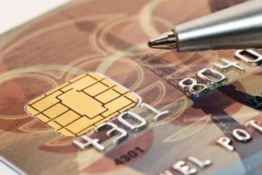 Credit card and pen macro