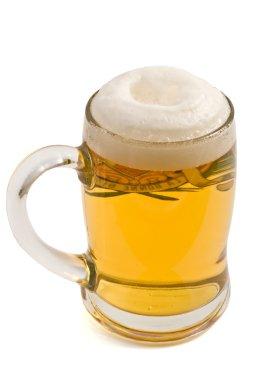 Lager beer mug with foam