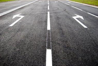 Turn to new life - street, road, arrow