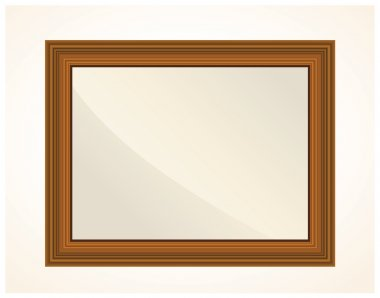 Realistic wooden frame for photo.