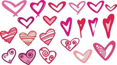 Heart gallery stock vector