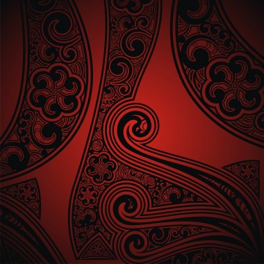Red- black background with the ornament