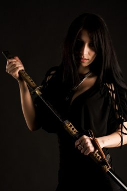 Beautiful woman with sword