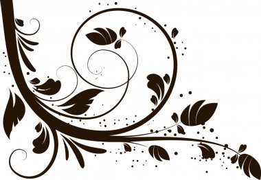 Floral abstract design element