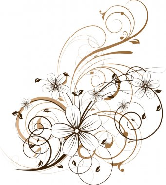Floral abstract design element.