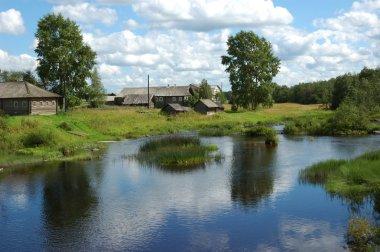 Northern russian village Oshevensk