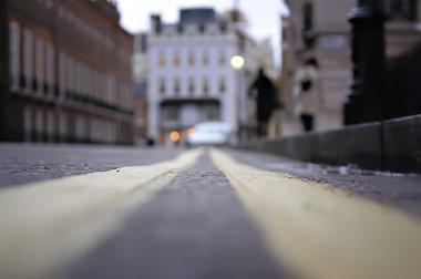 Pedestrians on the street Lugsmoor, Lond