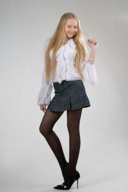 Pretty young stylish girl