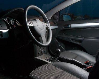 Inside of a modern car