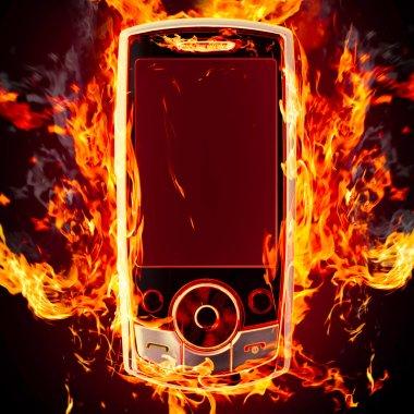 Burning phone