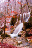 zimní vodopády