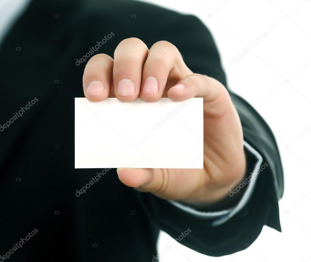 Business card in men hand stock photo akbudak 1339812 business card in men hand photo by akbudak magicingreecefo Choice Image