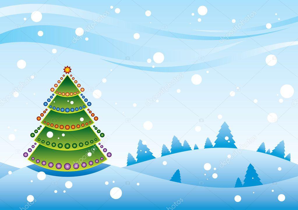Weihnachten Landschaft — Stockvektor © blitzkrieg #1185912