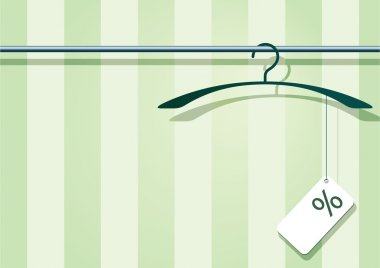 Coat-hanger with label