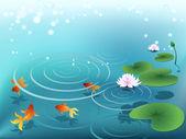 Rybník se zlatými rybičkami