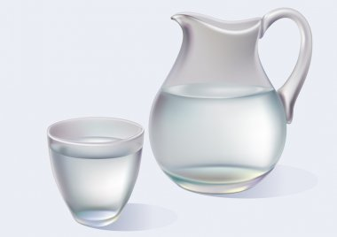 Jug and glass with water
