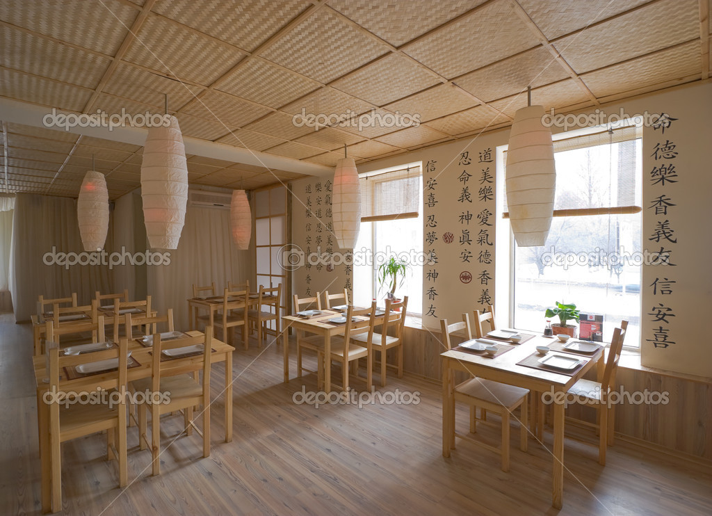 Interior of japanese restaurant — stock photo sazykin