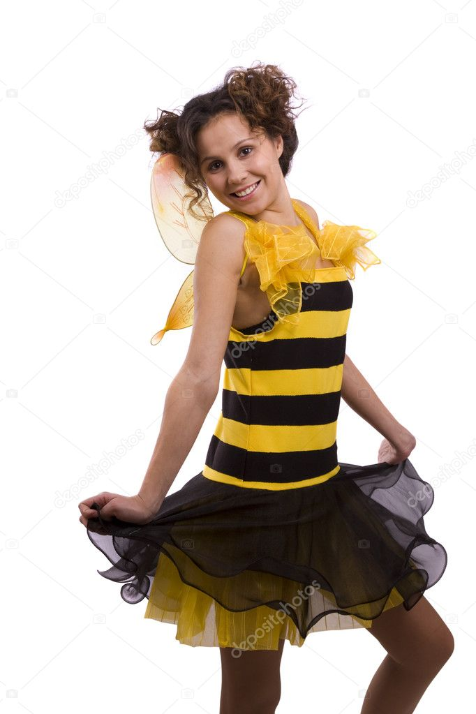 Bee costumes woman.  sc 1 st  Depositphotos & Bee costumes woman. u2014 Stock Photo © Irkusnya #1144926