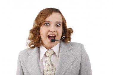 Customer Representative girl with headse