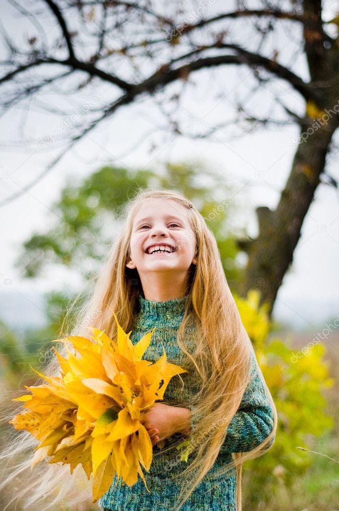 Little girl outside