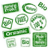 Set of bio, organic stamps