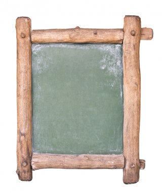Small blackboard with wooden frame
