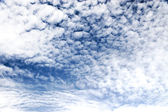 High contast fleecy clouds