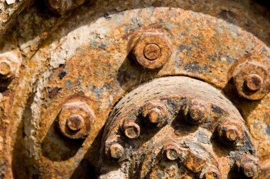 Rusty car wheel