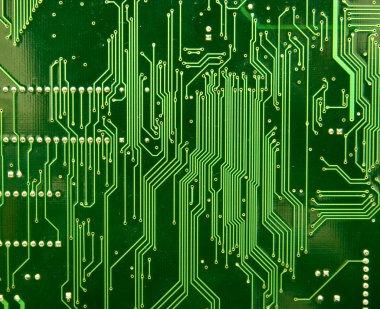 Computer chip underside