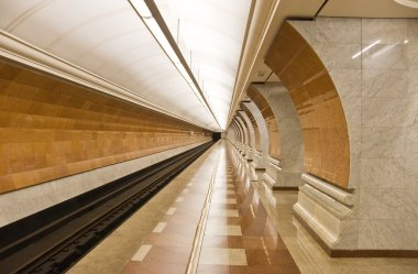 Modern subway station