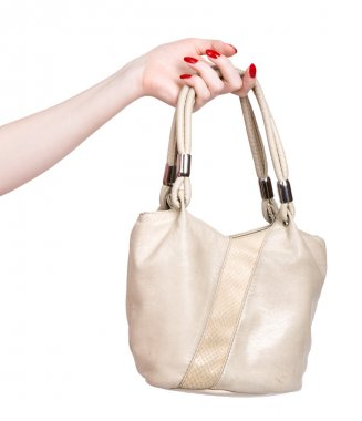 Woman hand with handbag