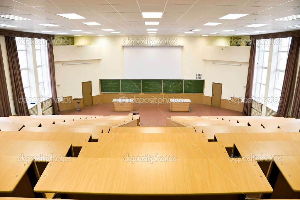 Big physics lecture hall   Stock Photo. Interior Photos and Interior Design Pictures   Stock Photos