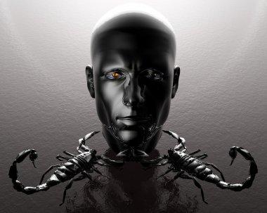 3D men head