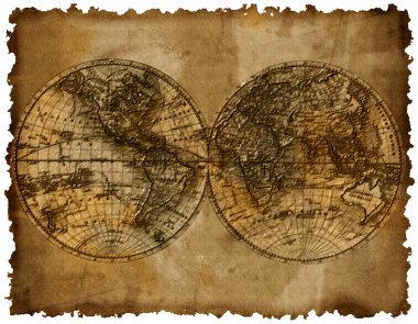 Map with two hemispheres