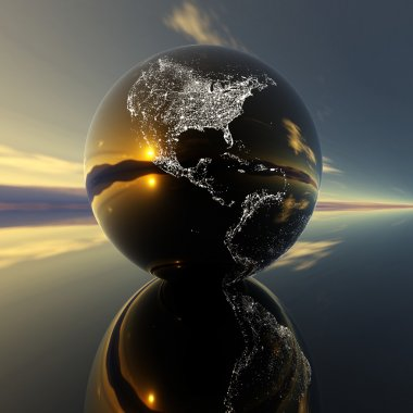 Earth model with reflection on the backg