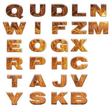 Set of 3d bright alphabet