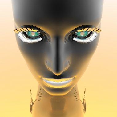 Cyber girl portrait