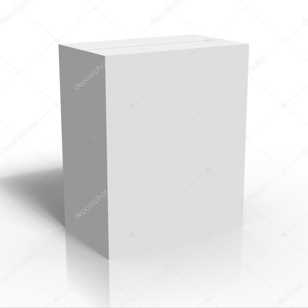 leere weiße Feld Vorlage — Stockfoto © Alperium #1884882