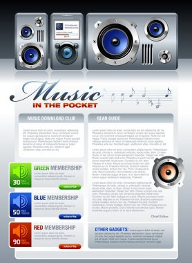 Music related web template or flyer