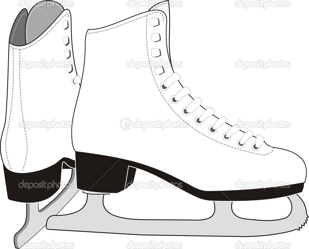 Lady S Ice Skates Stock Vector 169 Advrt24 1140685