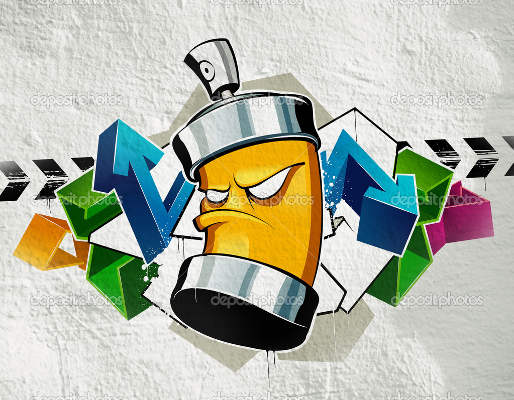 Cool Graffiti Image Stock Editorial Photo Vecster 1391196