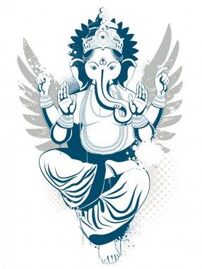 Ethnic image with indian idol stock vector